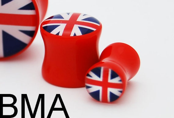 British UK Flag BMA Plugs 9/16 inch 14mm