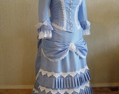 Victorian Bustle Dress Gown, SASS, Steampunk, Wedding, 1800's, Wild West, Reenactment