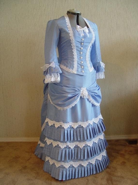 Victorian bustle dress gown sass steampunk wedding for Victorian bustle wedding dress