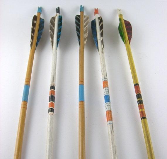 Vintage Wood Arrow Set