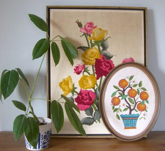 Orange Tree Embroidery