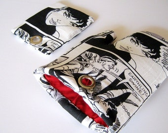 RETRO CARTOON Fridge Magnet set for Comics Fans Black Red White Magnetic Pot Holder and Oven Mitt