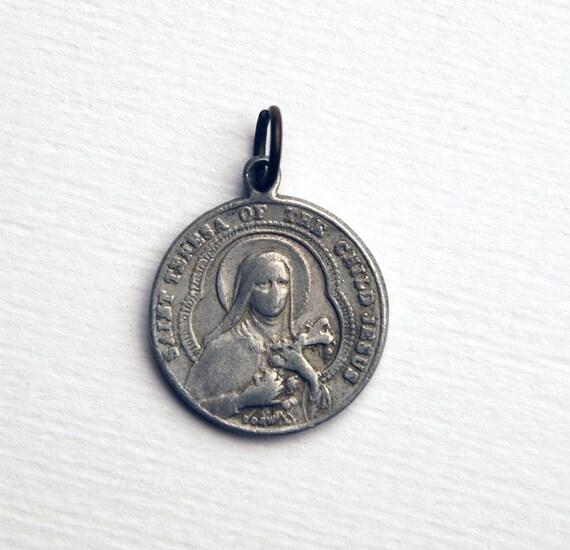 Small Vintage Religious Medal of Saint Teresa