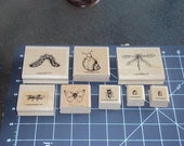 Bugs and Slugs Stampin' Up 8pc. Rubber Stamp Set