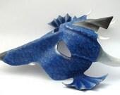 Blue Dragon leather mask