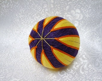 Japanese Temari Christmas Ornament