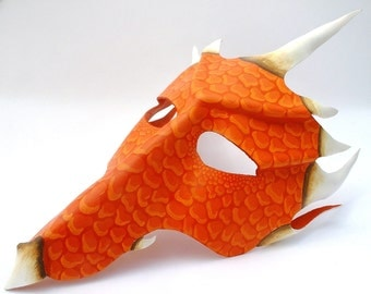 Red Dragon leather mask