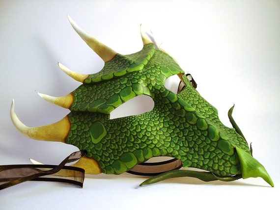 Green Dragon leather mask