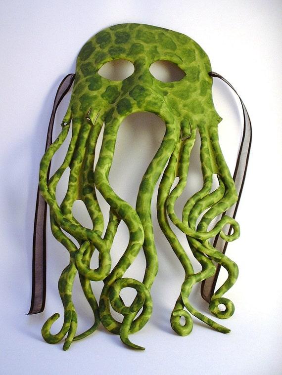 Leather Cthulu mask