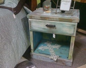 Rustic, refinished nightstand