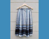 70s Perfectly Plaid Pleated Wool Skirt (S, M)