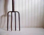 antique pitch fork - vintage garden - rustic - spring home decor - tool - farm fresh