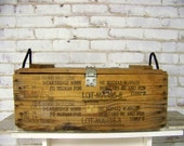 vintage artillery box - military - historical - wooden box - storage - organization - fathers day