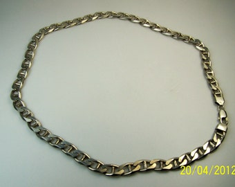 Men's Italian Heavy Sterling Silver Fancy Link Neckchain