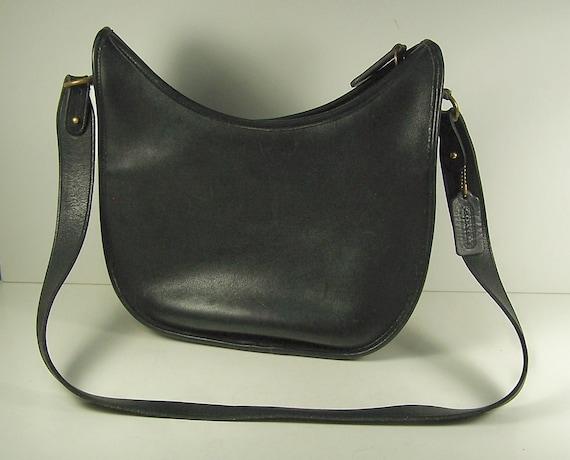 Genuine Coach Black Leather HOBO Style Ladies Shoulder Bag