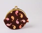 Bubble - Birds in sorbet - metal frame purse