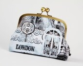 Travel pouch - City of London - metal frame pouch