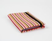 Card holder - Sophie stripes in pink