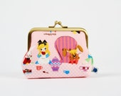 Deep dad - Alice in Wonderland -Tea party - metal frame purse