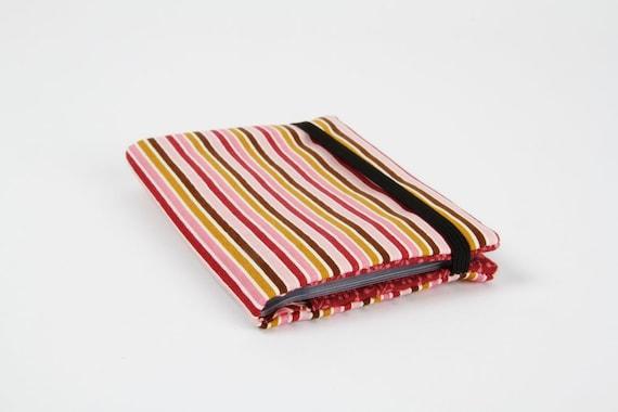 Card holder - Sophie stripes in pink