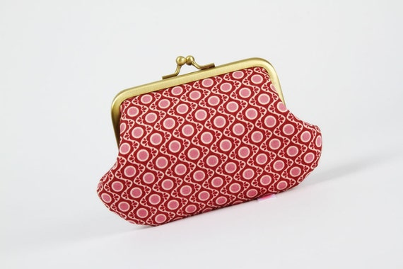 Daddy purse - Sophie Tapestry in pink - metal frame pouch