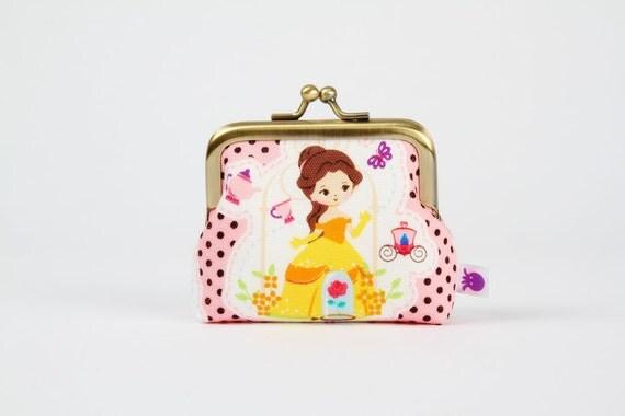 Deep mum - Disney princess - Beauty - metal frame purse