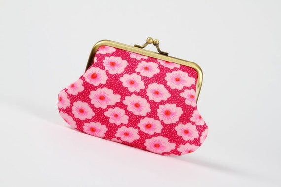 Daddy purse - Petit Pan Osami rose - metal frame pouch