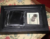 SALE  Wood Dresser Wallet Jewelry Tray Black any color available