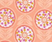 Weekends Lollies Flowers Peach by Erin McMorris for Free Spirit Fabrics - 1 yard