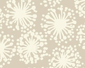 Habitat Dandelion Taupe and White by Michele D'Amore Benartex Fabrics  - 1 Yard