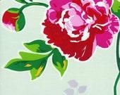 England Swings English Garden Celadon by Rebekah Merkle Wide LAMINATED COTTON Laminate Timeless Treasures 1 yard