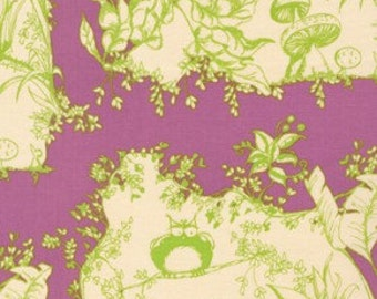 Opal Owl Opals House Violet Purple Green by Tina Givens for Free Spirit Fabrics - 1 yard
