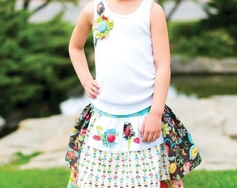 SALE  Pink Fig Tea Party Apron Skirt and Top No. 22 Sewing Pattern size 12 months to 10 years