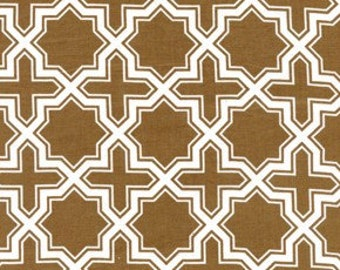Modern Meadow Nap Sack Crosses Fabric in Timber Brown by Joel Dewberry for FreeSpirit - 1 yard