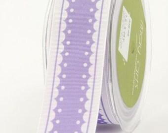 Lavender Light Purple Scalloped Edge Grosgrain Ribbon 1.5 inch 1 1/2 inch width - 2 Yards