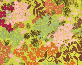Sleeping Beauty Enchanted Floral Green by Nel Whatmore for Free Spirit Fabrics - 1 yard
