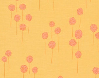 Nest Berries Tangerine Orange by Valori Wells for Free Spirit Cotton Fabric - 1 yard