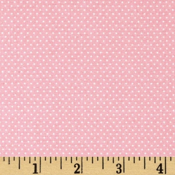 CARNATION PINK Light Pink Mini Dot Pin Dot Polka Dots Cotton FABRIC - 1 Yard