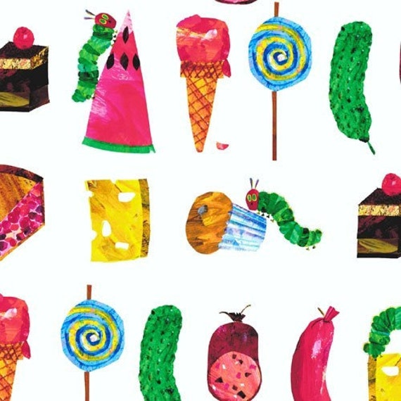 The Very Hungry Caterpillar Encore Just Saturday Food by Eric Carle for Andover Fabrics - 1 yard