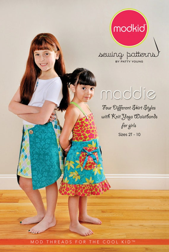 FREE SHIP Modkid Maddie Skirt Girls size 2T-10 Skirt Summer Dress Sewing Pattern by Patty Young