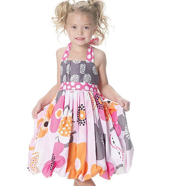 Bubble Dress McCalls M6271 Izzy Ivy Lola Lou Boutique Style Dress Top Shorts McCalls Easy Sewing Pattern Girls 2 3 4 5