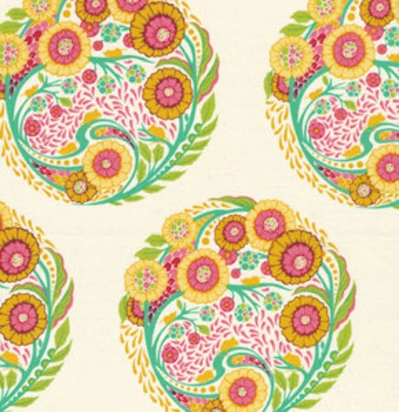 Parisville TOPIARY Circles Sprout Green by Tula Pink for Free Spirit Fabrics - 1 yard