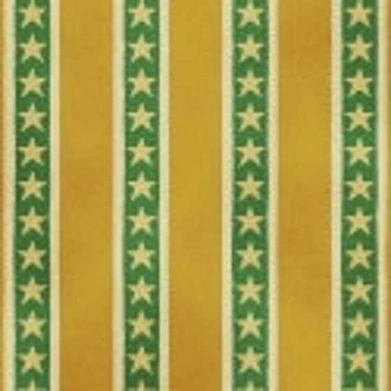 Shelburne Circus Stripes and Stars Gold Yellow Green The Big Top Cream by Windham Fabrics  - 1 yard