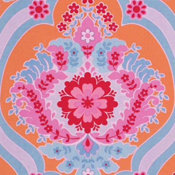 Crazy Love Priscilla Orange by Jennifer Paganelli Sis Boom for FreeSpirit Cotton Fabric - 1 yard
