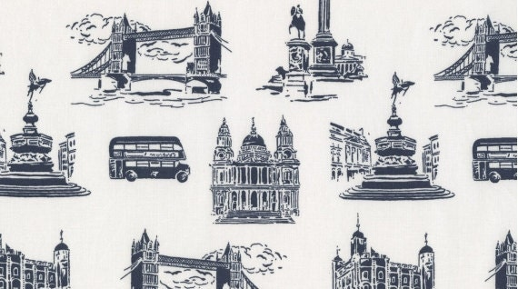 town and country london town toile in navy dear stella fabrics. Black Bedroom Furniture Sets. Home Design Ideas