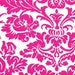 SALE Queen Street Ellen Fuschia Damask Pink White JP39 by Jennifer Paganelli Sis Boom for FreeSpirit Cotton Fabric - 1 yard