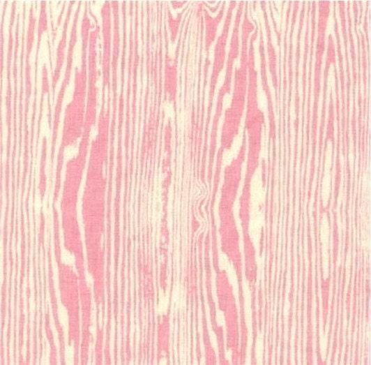 Aviary Light Pink Woodgrain Fabric By Joel Dewberry 1 Yard