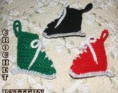 CROCHET PATTERN -  Ice Skate Christmas Ornament