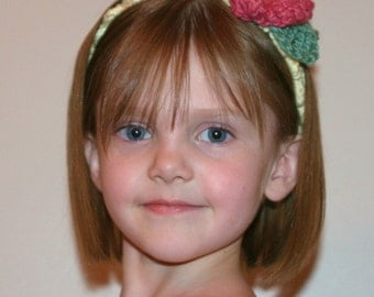 CROCHET PATTERN - Wild Rose Headband/Photo Prop-Newborn To Adult