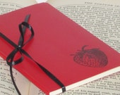 Red Strawberry Altered MOLESKINE Notebook/Journal